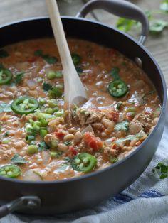 Spicy Hummus Turkey Chili. #chili #turkey