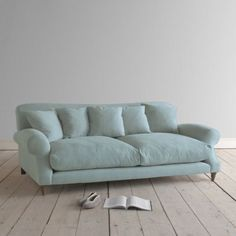 Large Crumpet in cloud blue vintage linen - Sofas Loaf Furniture, Room, Home, Sofa Design, Home Furniture, Comfortable Sofa, Comfy Sofa, Comfortable Sofa Bed, Most Comfortable Sofa Bed