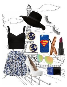 """""""Paris :3 Bonjour"""" by greksza-marika ❤ liked on Polyvore featuring beauty, Elle Sasson, Forever New, With Love From CA, Brooks Brothers, Rimini and Butter London"""