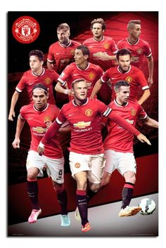 Manchester United Players Collage 2014 / 2015 Poster