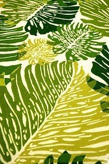 Alfred Shaheen fabric, palms
