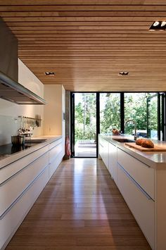20 Stunning Basement Ceiling Ideas Are Completely Overrated : It is pretty easy to implement your brilliant ideas. You can only choose which idea you like the most, then your basement would be the most comfortable living space. Best Kitchen Designs, Modern Kitchen Design, Interior Design Kitchen, Timber Ceiling, Wooden Ceilings, Küchen Design, House Design, Design Ideas, Ceiling Design