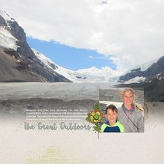 Love this picture of the kids when they were hiking in the mountains. It was a perfect backdrop for my scrapbook page.