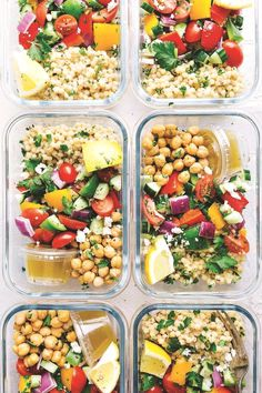 20 Healthy Recipes You Can Meal Prep This Week A delicious and healthy Greek couscous salad that everyone will go crazy for Meal prep options and tips included via chelseasmessyapro healthy salad couscous Healthy Diet Recipes, Healthy Meal Prep, Healthy Snacks, Vegetarian Recipes, Healthy Eating, Healthy Options, Healthy Vegetarian Lunch Ideas, Keto Recipes, Zone Recipes