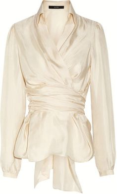 ShopStyle: Etro Silk wrap blouse