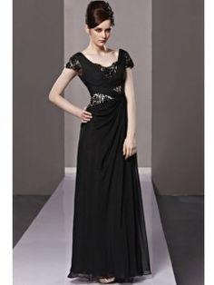Robe de soiree pas cher longue noir