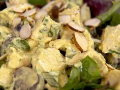 Curried Chicken Salad : Ellie's curried chicken salad features juicy grapes and toasted almonds.