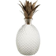 Pier 1 Imports Clear Pineapple Decanter (58 CAD) ❤ liked on Polyvore featuring home, kitchen & dining, bar tools, fillers, home decor, decor, kitchen, clear, vodka decanter and pier 1 imports