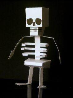 Halloween Skeleton Paper Toy Halloween Skeleton Paper Toy, created by Digitprop . Halloween Activities, Halloween Themes, Halloween Crafts, Halloween Decorations, Halloween Stuff, Paper Crafts For Kids, Diy Paper, Projects For Kids, School Projects