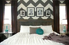 Loving the Chevron wall. Maybe I will do something similar in our guest room!