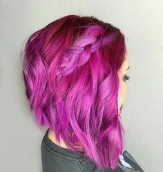 UNICORN TRIBE MEMBER @justinecavehair SHOW SOME UNICORN LOVE AND GIVE HER A FOLLOW! ・・・ Joico Lilac + Rose boosted with some Magenta + Light Purple