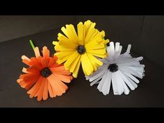 DIY: How to Make Easy & Beautiful Aster Flower With Colour Paper!!! Flower Tutorial... - YouTube