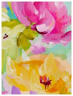 GreenBox Art 'Spring Rain by Susan Pepe Painting Print on Canvas Size: Abstract Art Painting, Floral Wall Art, Floral Painting, Spring Painting, Floral Art, Painting, Painting Prints, Art, Floral Prints Art