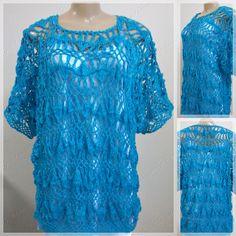 Blusa Irene http://bychrissdias.blogspot.com.br/2012/12/blusa-irene-cor-azul-com-brilho-prata.html