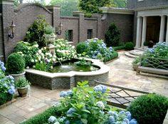 fountains in a garden   Small Garden Design - Landscape and Gardening - Habitat Design