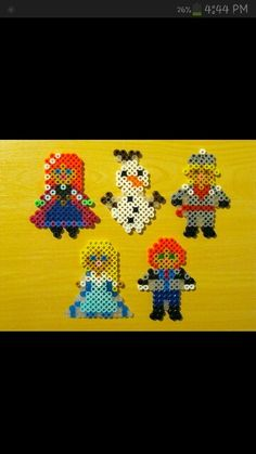 Disney Frozen characters perler beads by Ashley Venters
