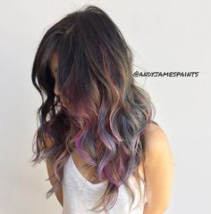 brunette hair with underlights - Google Search