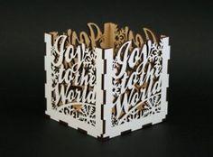 Xmas Gifts - Laser Cut Joy Paper Box by JJ Box
