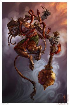'Hanuman' by Vinod Rams Hanuman Tattoo, Hanuman Chalisa, Krishna, Hanuman Ji Wallpapers, Shiva Lord Wallpapers, Hanuman Images, Hanuman Photos, Lord Shiva Painting, Shiva Wallpaper