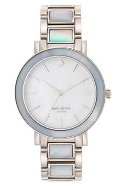 Beautiful kate spade watch with mother of pearl bracelet  http://rstyle.me/n/mq3ndnyg6