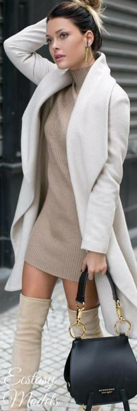 Missguided Knitted Mini Dress // Fashion Look by Caroline Receveu 45 Amazing Casual Style Outfits To Copy Now – Missguided Knitted Mini Dress // Fashion Look by Caroline Receveu Source Fashion 2017, Look Fashion, Fashion Dresses, Womens Fashion, Fashion Trends, Fashion Tips, Fall Fashion, Trendy Fashion, Fashion Ideas