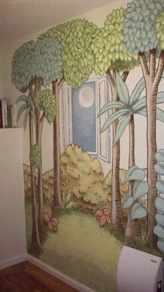 light bulb-why didn't i ever think to paint the 'where the wild things are' on the walls? this is great for kids or classrooms