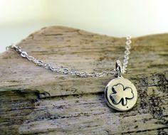Shamrock Necklace  in sterling silver by by KathrynRiechert, $36.00