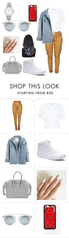 """Untitled #37"" by shania-collier on Polyvore featuring T By Alexander Wang, Vans, Givenchy, Christian Dior and Topshop"