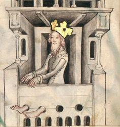 Speculum humanae salvationis.  Date d'édition :  1301-1500  Latin 511  Folio 14v