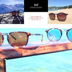 Start of summer sales ends tonight. Customise your own pair of unique sunglasses at http://www.stapleandford.com #sunglasses #sun #sale #fashion #designer #unique