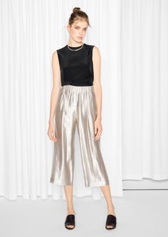 & Other Stories | Metallic Culottes
