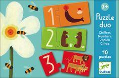 10 #Puzzles #Numbers by #Djeco from www.kidsdinge.com https://www.facebook.com/pages/kidsdingecom-Origineel-speelgoed-hebbedingen-voor-hippe-kids/160122710686387?sk=wall #kidsdinge #toys #speelgoed