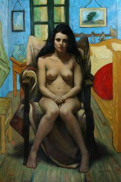 Juliet. 53 X 36 in, oil on linen | Cesar Santos