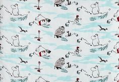 Pink Moomin fabric 95 x 145 cm by minnal on Etsy, $19.50