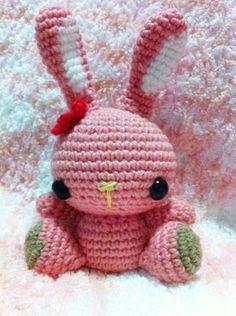 Kawaii Pink Bunny Amigurumi  Crochet Doll by MakebyMarisa on Etsy, $25.00