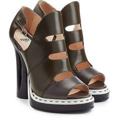 Fendi Leather Platform Sandals