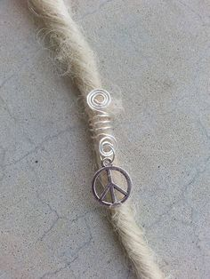 Peace Sign Dreadlock Bead Cuff, Peace Dreadlock Beads, Braid Beads, Dread Beads, Dreadlock Hair Jewelry by YaYaHippieEmporium on Etsy
