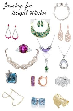Bright Winter Jewelry by ithinklikeme on Polyvore featuring Olivine, Adolfo Courrier, Kendra Scott, Carolee, Ice, Bling Jewelry, Alexander McQueen, Uno6eight, Alexis Bittar and CO