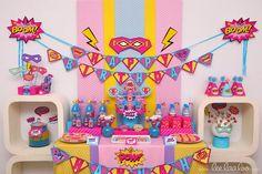 Girls Superhero Party