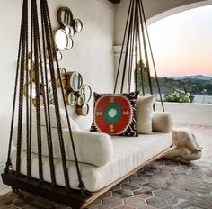 Future Future In 2019 Outdoor Beds Hanging Beds Home Decor Outdoor Beds, Outdoor Spaces, Outdoor Living, Outdoor Swings, Porch Swings, Outdoor Hanging Bed, Indoor Outdoor, Bed Swings, Outdoor Bedroom