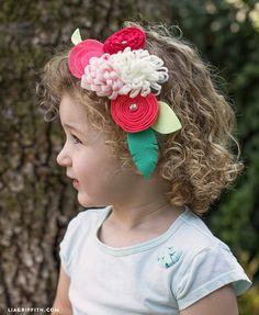 #feltflower #Crafternoon #Hazel&Ruby www.LiaGriffith.com