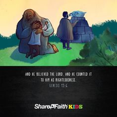 Abraham and Isaac kids Bible Scripture: This lesson is an edge of your seat tale of a father's faith, love and obedience. As Abraham obeys God's command to sacrifice his son Isaac, God intervenes and provides a replacement offering. This Old Testament story is one of the most vivid pictures we see of Jesus, and the offering his life would become for the sins of all mankind. Teachers will love the host of included resources such as Q&A, closing prayer, lesson artwork and more.