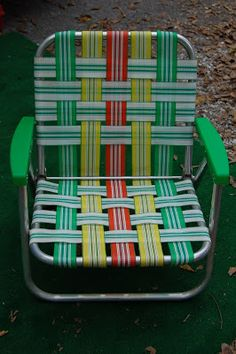 Beach Chair-70's style. Couldn't live without this.
