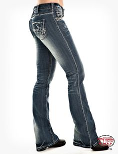 Womens Studded Barbed Wire Jean