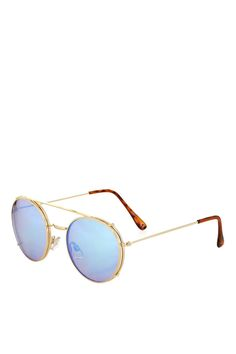 High Brow Metal Round Sunglasses - Topshop USA