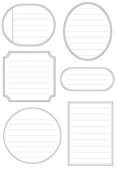 Free Printable Labels as journal notes. Printable Labels, Printable Paper, Free Printables, Labels Free, Blank Labels, Pocket Letter, Vide, Tampons, Smash Book