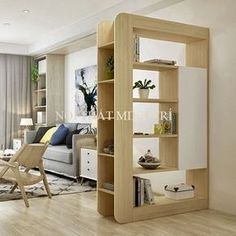 Top 40 Modern Partition Wall Ideas in 2020 Living Room Partition Design, Living Room Divider, Room Partition Designs, Room Partition Wall, Home Interior Design, Living Room Designs, Diy Home Decor, Furniture Design, House Design