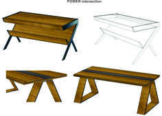 "Woost ""POWER – intersection"" tables concept exclusively for head managers. Different materials, textures and colours are available. Let us know what you think."