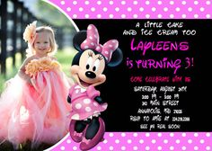 Minnie Mouse Birthday Party Invitation  by FunPartyPrintable, $8.99