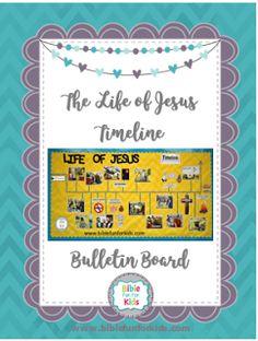 Life of Jesus Timeline #bulletinboard printables #Biblefun #lifeofjesus